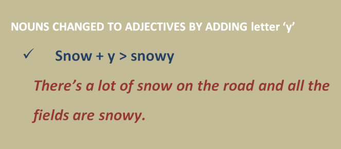 adjectives with y